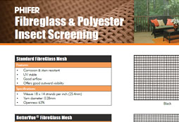 Phifer Fibreglass & Polyester Insect Screening