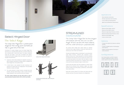 Select Hinged Door Brochure